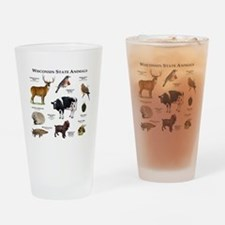 Wisconsin State Animals Drinking Glass