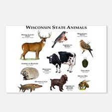 Wisconsin State Animals Postcards (Package of 8)
