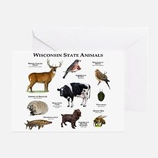 Wisconsin State Animals Greeting Card