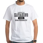 Kayaking University White T-Shirt