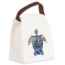 Sea Turtle Peace Canvas Lunch Bag