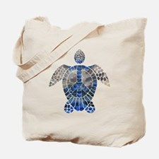 Sea Turtle Peace Tote Bag