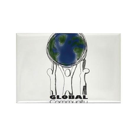 Global Community Volunteers Rectangle Magnet