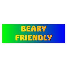 BEARY FRIENDLY 5 Bumper Bumper Sticker