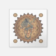 "Belly Dancer Square Sticker 3"" x 3"""