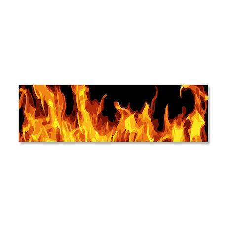 Flames Car Magnet 10 x 3