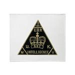 United Kingdom Intelligence Throw Blanket