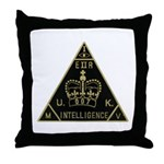 United Kingdom Intelligence Throw Pillow