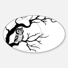 owl on full moon Decal