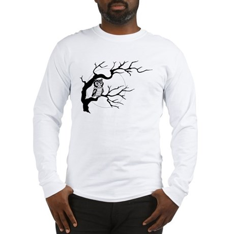 owl on full moon Long Sleeve T-Shirt