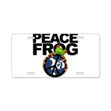 peace frog2.png Aluminum License Plate