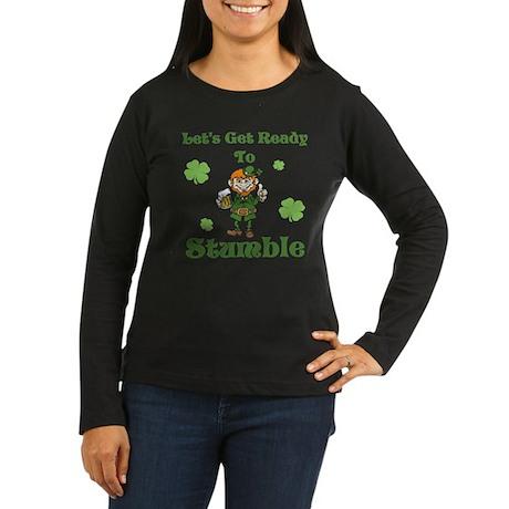 Stumble Women's Long Sleeve Dark T-Shirt
