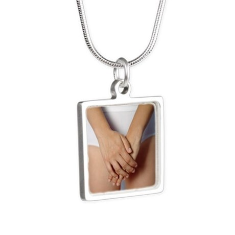 Sexual abuse - Silver Square Necklace