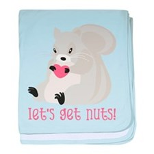 Let's Get Nuts Squirrel baby blanket