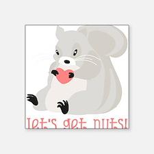Let's Get Nuts Squirrel Sticker