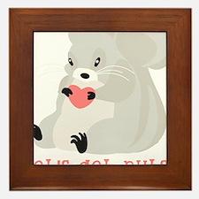 Let's Get Nuts Squirrel Framed Tile