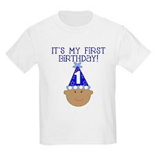 First Bday (Af Am Boy) Kids T-Shirt