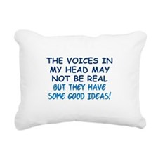 Voices in my Head Rectangular Canvas Pillow