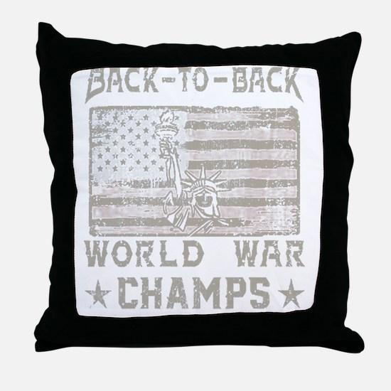 Unique World war Throw Pillow