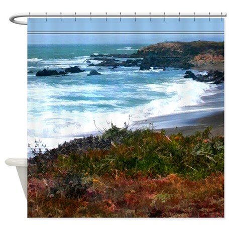 Central California Coast Shower Curtain