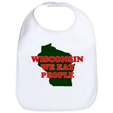 WISCONSIN WE EAT PEOPLE SHIRT Bib