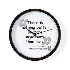 Alvarez Love Quote Wall Clock