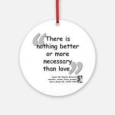 Alvarez Love Quote Ornament (Round)