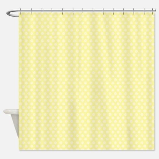 Small Yellow Polka Dots Shower Curtain