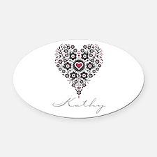Love Kathy Oval Car Magnet