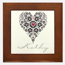 Love Kathy Framed Tile