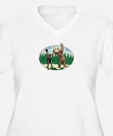 Abe Lincoln vs. Sasquatch T-Shirt