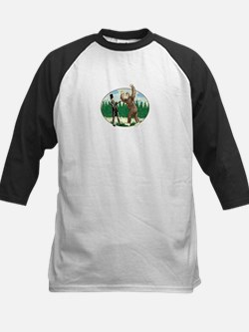 Abe Lincoln vs. Sasquatch Kids Baseball Jersey