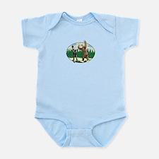 Abe Lincoln vs. Sasquatch Infant Bodysuit