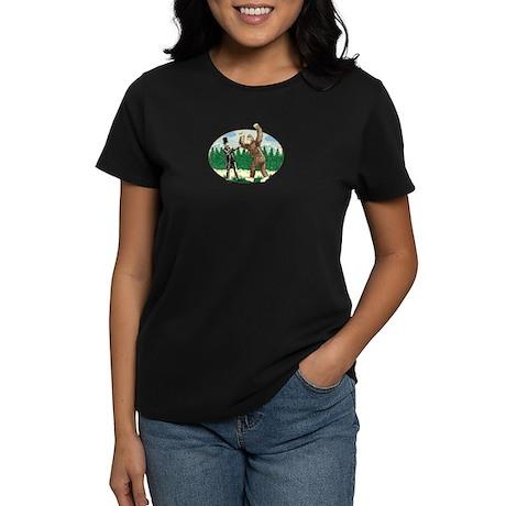 Abe Lincoln vs. Sasquatch Women's Dark T-Shirt