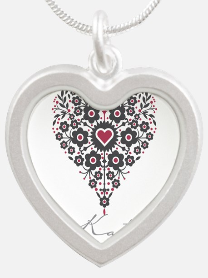 Love Katy Silver Heart Necklace