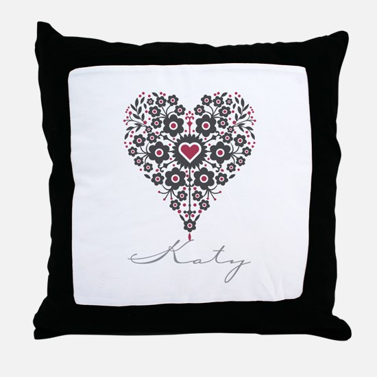 Love Katy Throw Pillow