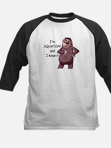 Squatchy & I Know It Kids Baseball Jersey