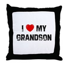I * My Grandson Throw Pillow