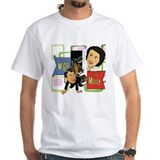 Old time radio Mens White T-shirts