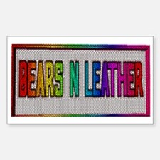 BEARS_N_LEATHER Rectangle Decal