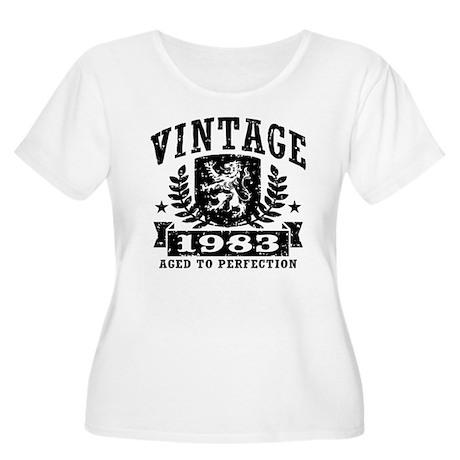 Vintage 1983 Women's Plus Size Scoop Neck T-Shirt
