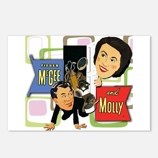 Fibber McGee And Molly Postcards (Package of 8)