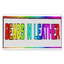 BEARS_N_LEATHER2 Rectangle Decal