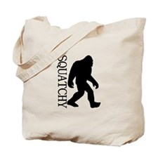 Squatchy Silhouette Tote Bag