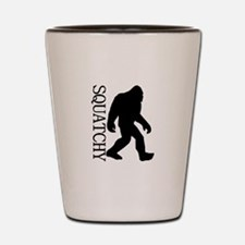 Squatchy Silhouette Shot Glass
