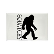 Squatchy Silhouette Rectangle Magnet