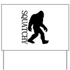 Squatchy Silhouette Yard Sign