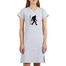 Squatchy Silhouette Women's Nightshirt
