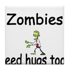 Zombies need hugs too. Tile Coaster