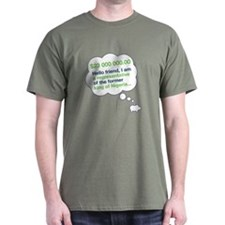 Spam Dream Piggy Black T-Shirt
